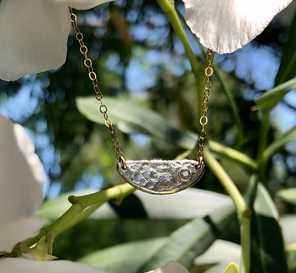 Half Dome Necklace by Petite Sunflower Shop
