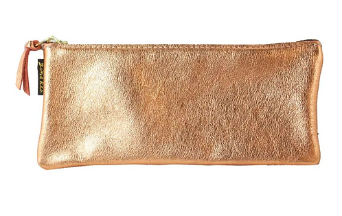 "The ""Metallic Grant"" Leather Pencil Case by Zina Kao"