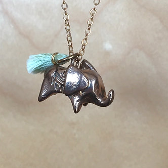 Elephant Necklace (Mint) by Dawning Collective