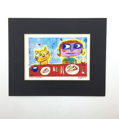 """""""Give Thanks"""" Signed Print by Murphy Adams"""
