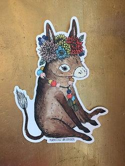 Donkey Sticker by Marika Daz Illustration