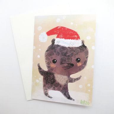 Holiday Bear Card by Aidan Monahan