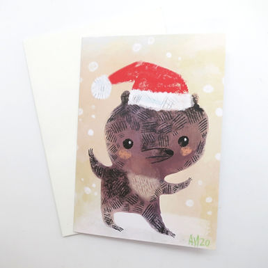 Holiday Bear Card by Aidan Monahan