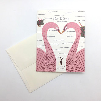 """Be Mine"" Kissing Birds Card by Red Cap Cards"