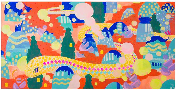 Mountain Snake Print by Harumo Sato