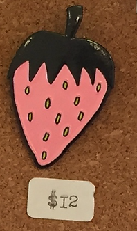 Strawberry Enamel Pin by Jenny Lemons