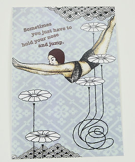 Hold your nose and jump Card by Go Jet Go Designs