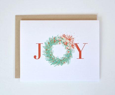 Joy Wreath Holiday Card by Pennie Post