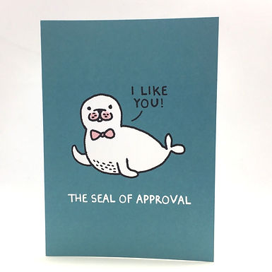 The Seal of Approval Card by Gemma Correll