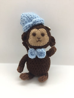 Crocheted Monkey Plushie by Ria Art