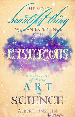 """""""Mysterious"""" Typography Signed Print by Heidi Black"""