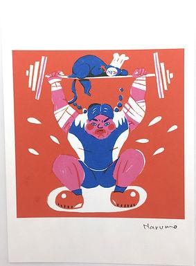 Weightlifter/Wrestler Print by Harumo Sato