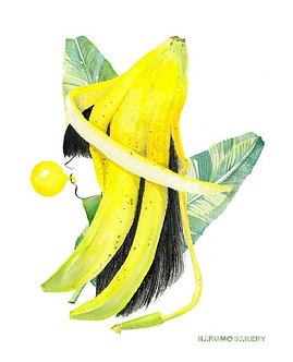 Banana Girl Print by Harumo Bakery