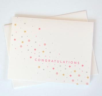 Congratulations Confetti Sparkle Card by Pennie Post