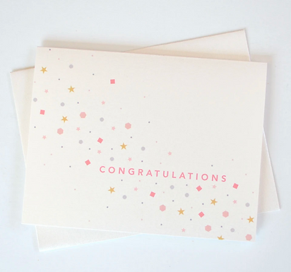 Congratulations Confetti Sparkle Card by Pennie Post