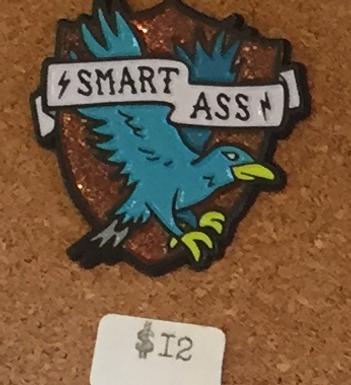 """Smart Ass"" Raven Wizard House Enamel Pin by Band of Weirdos"