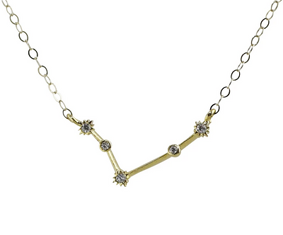 Gold Aries Constellation Necklace by Thesis of Alexandria
