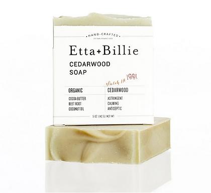 Organic Cedarwood Soap by Etta + Billie