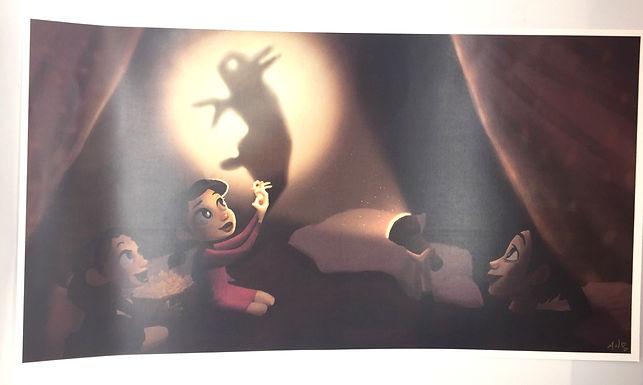 Shadow Puppets Print by Alice Wong