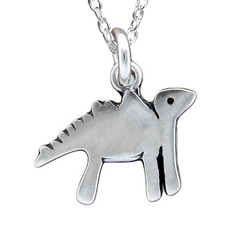 Little Dinosaur Necklace by Mark Poulin
