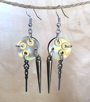 Shimmer Peekaboo Color Spike Earrings by Emily Brooks
