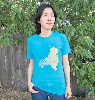 Unisex Sleepy Cat Shirt by Harumo Bakery