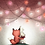 Thumbnail: Fox Bunny Romantic Night Print by Ria Art