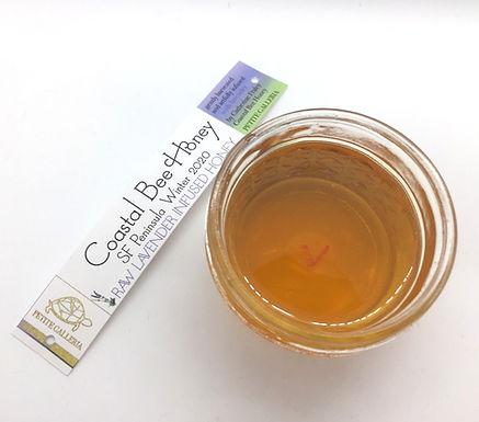 Raw Lavender Infused Honey by Coastal Bee Honey (4oz)