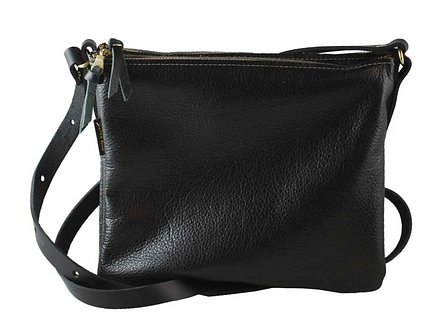 "The ""Octavia"" Leather Crossbody Purse by Zina Kao"