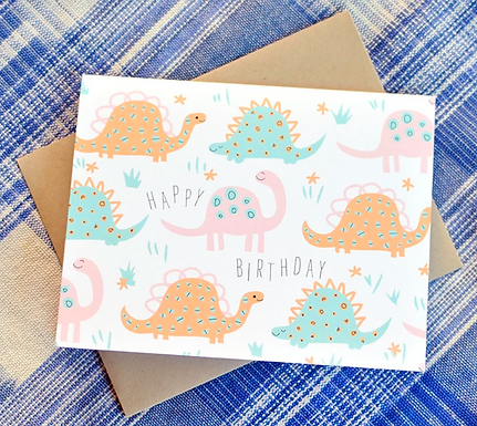Happy Birthday Dinosaurs Card by Pennie Post