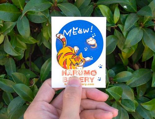 Meow! Tom Cat Pin by Harumo Bakery