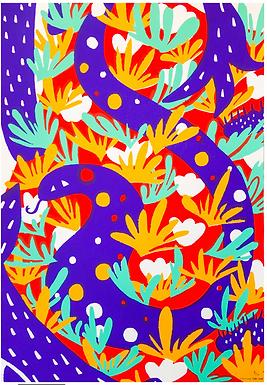 Bleeding Screen Print (edition 7/13) by Harumo Sato