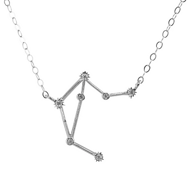 Silver Libra Constellation Necklace by Thesis of Alexandia