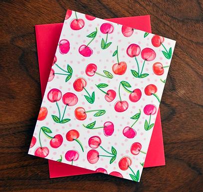 Fresh Cherries Card by Pennie Post