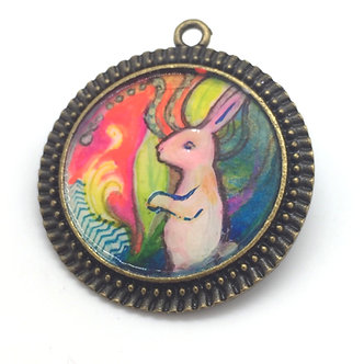 Rabbit Pendant by April Gee