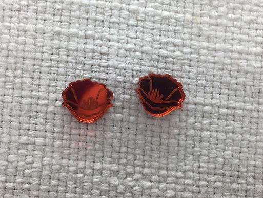 Golden Poppy Earrings by Splendid Colors
