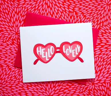 Hello Lovely Sunglasses Card by Pennie Post