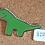 Thumbnail: Green Dinosaur Enamel Pin by That's Good Paper