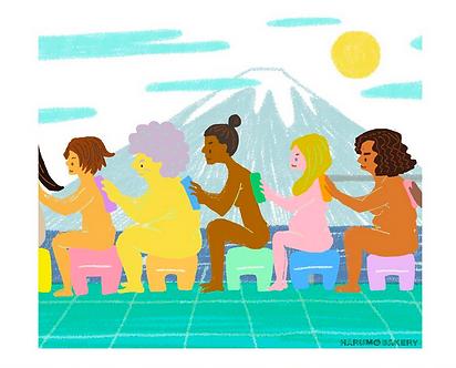 Unite Ladies Print by Harumo Bakery