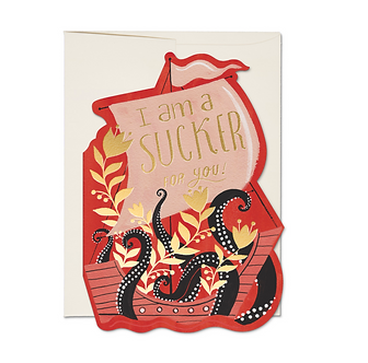 Octopus Ship Card by Red Cap Cards