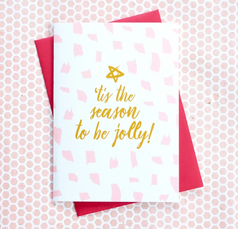 'Tis the Season Sparkle Holiday Christmas Card by Pennie Post