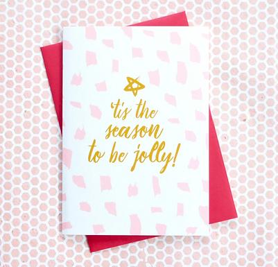 'Tis the Season Sparkle Holiday Christmas Card by Pennie Post