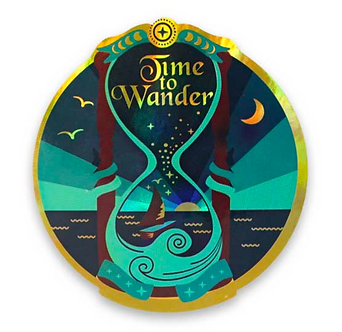 """Time to Wander"" Sticker by Compoco"