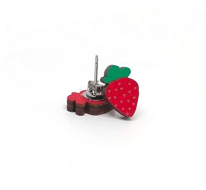 Strawberry Earrings by Unpossible Cuts
