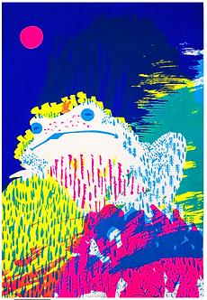 Meditation Screen Print (edition 11/15) by Harumo Sato