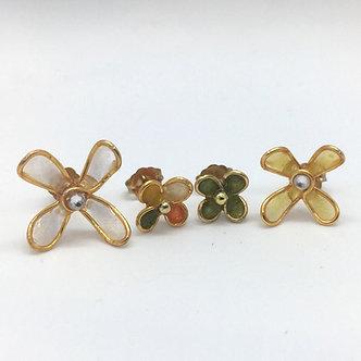 Yellow Wildflower Stud Earrings Set by Petite Sunflower Shop