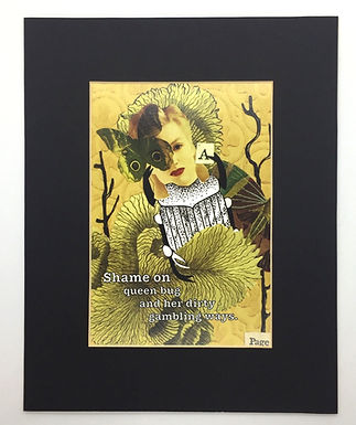 Shame on Queen Bug Print by Jessica Tollefsrud