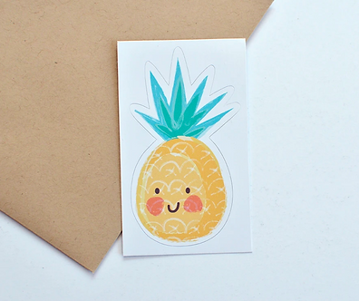 Pineapple Vinyl Sticker by Pennie Post