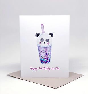 """Panda Boba """"Happy Birthday Cu-tea"""" Card by Pennie Post"""