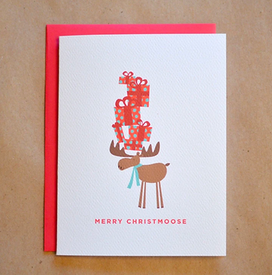 """Merry Christmoose"" Card by Pennie Post"